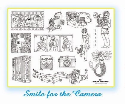 Smile for the Camera Iron on Hand Embroidery Pattern (original design)