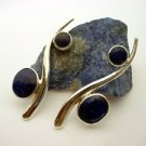 C462020901 - Sterling Silver and Lapis Lazuli Earrings