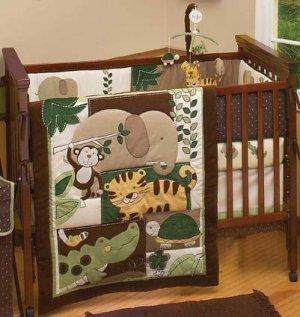 jungle mania 6 piece baby crib bedding set by nojo new