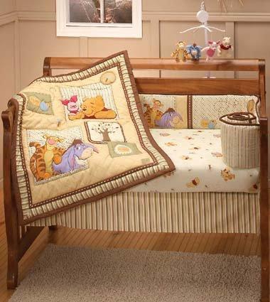 Winnie The Pooh Dreams Of Hunny 4 Piece Baby Crib Bedding Set New