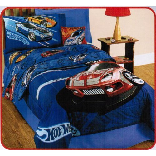 Hot Wheels Twin Comforter Sheets Bedding Set Cars Boys New