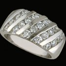 Lds CZ Sterling Silver Ring #4283