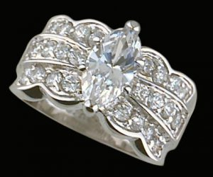 Lds CZ Sterling Silver Ring #4327