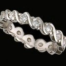Lds CZ Sterling Silver Eternity Ring #4302