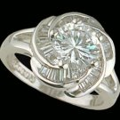 Lds CZ Sterling Silver Ring #4245