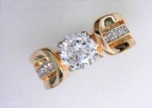 Ladies Cubic Zirconia Fashion Ring #603
