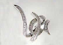 Ladies Cubic Zirconia Fashion Ring #609