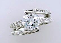 Ladies Cubic Zirconia Fashion Ring #690