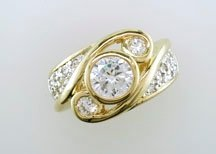Ladies Cubic Zirconia Fashion Ring #674