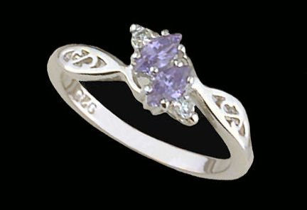 Lds Sterling Silver Ring #4186