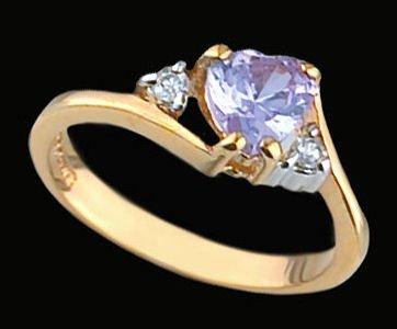 Ladies Cubic Zirconia Fashion Ring #220