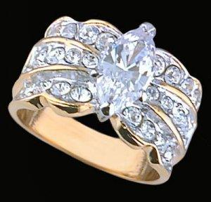 Ladies Cubic Zirconia Fashion Ring #290