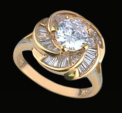 Ladies Cubic Zirconia Fashion Ring #347