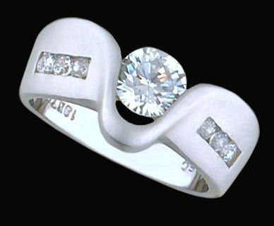 Ladies Cubic Zirconia Fashion Ring #369