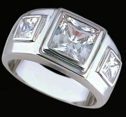 Gentleman's Cubic Zirconia Fashion Ring #2251