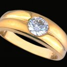 Gentleman's Cubic Zirconia Fashion Ring #2235