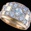 Gentleman's Cubic Zirconia Fashion Ring #2265