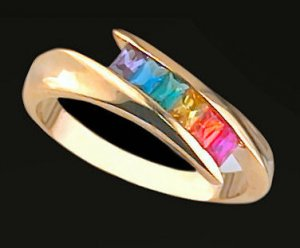 Lds Cubic Zirconia Fashion Ring #444