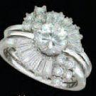 Lds Cubic Zirconia Wedding Set #490