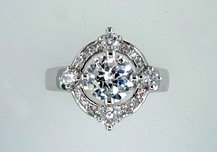 Lds Cubic Zirconia Fashion Ring #628