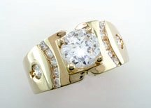 Lds Cubic Zirconia Fashion Ring #694