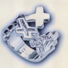 S/CZ Cross Ring #853