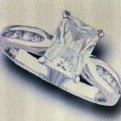 Lds CZ Sterling Silver Ring #4406