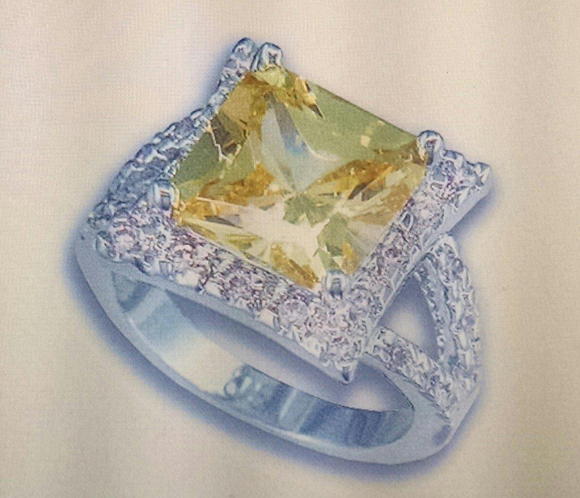 Lds Cubic Zirconia Fashion Ring #883