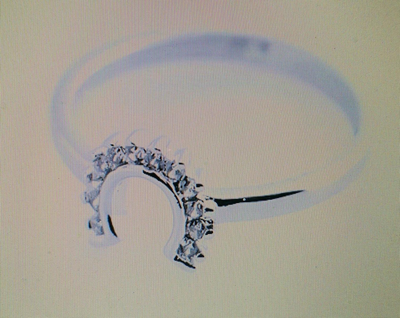 Ladies CZ Horseshoe Ring #6110