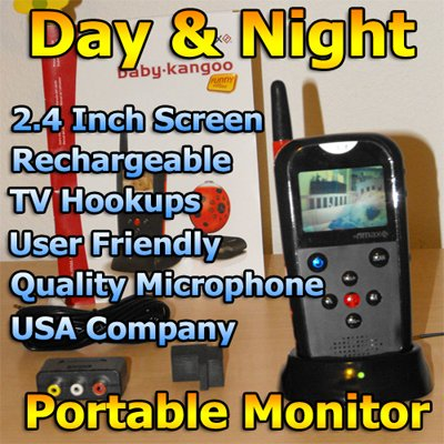 Video Baby Monitor Large 2.4 Screen w/ Sound & Wireless