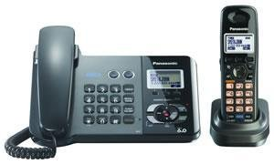 Panasonic DECT 6.0 2-line corded/cordless W/1TAD BK