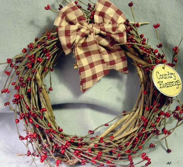 Lg Grapevine Wreath -- YOU choose the detailing