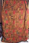 Red & Earth TonesGuatemalan Patchwork Quilt  king size