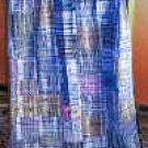 Blue/pastelsHuipile Guatemalan Patchwork Quilt-queen size