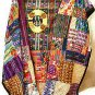 Mixed Huipile Guatemalan Patchwork Quilt Queen size