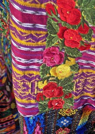 Mixed Huipile Guatemalan Patchwork Quilt- twin
