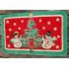 Holiday Winter Snowman Retro Door Mat Rug  20 x 34