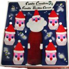 Dan-dee Imports Vintage Santa Coasters with Matching Bottle Cover