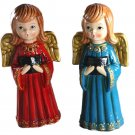 Aardco Singing Angel Pair Composition Christmas Figurines 7-1/2 Inches