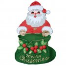 1970s Sequin Felt Santa Card Holder 23 Inches