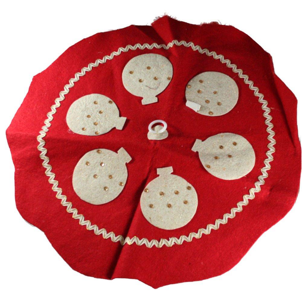 Mid-Century Felt Ornament Rick Rack Handmade Casserole Cover