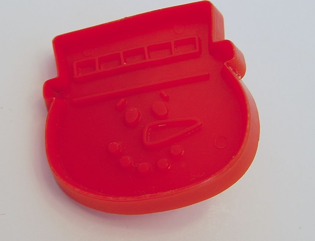 Hallmark Cards Red Snowman Face Mini Cookie Cutter 2 Inches Tall