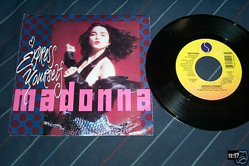 Madonna Rare 45 with sleeve Express Yourself Remix
