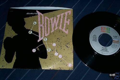 David Bowie Rare 45 with sleeve Let's Dance/Cat People