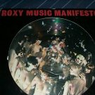 Roxy Music Manifesto Rare Picture Disc EGPD 001 Lp