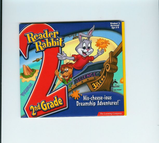 Reader Rabbit 2nd Grade: Mis-cheese-ious Dreamship Adventures! [PC Game]