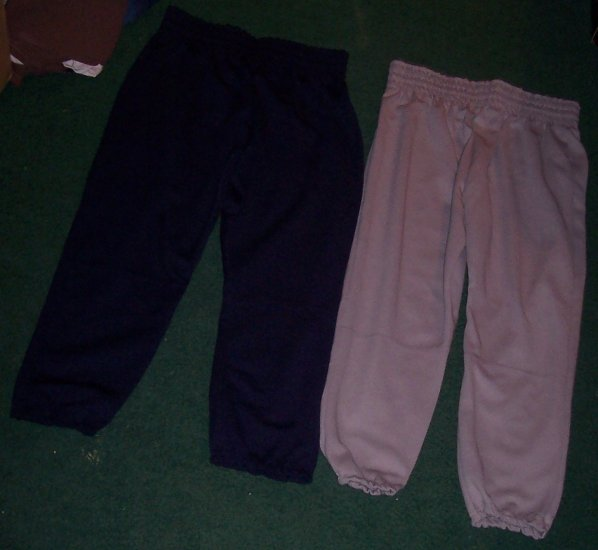2 PAIR OF BRAND NEW BASEBALL PANTS SIZE 14/16