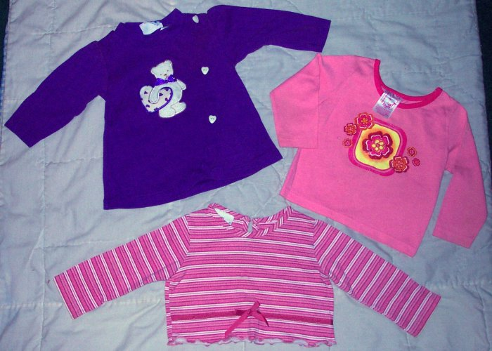 LOT OF 3 LONG-SLEEVED SHIRTS SIZE 18 MONTHS