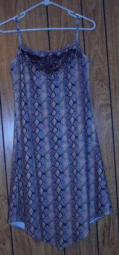 EYE CANDY LEOPARD PRINT CLUB DRESS SIZE MEDIUM