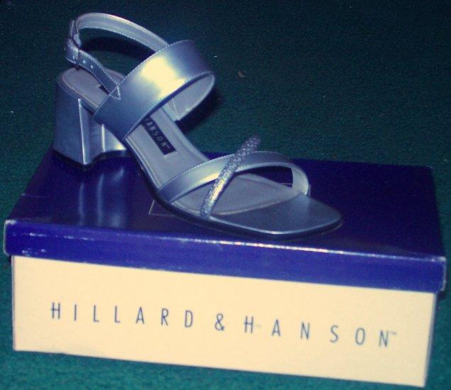 Hillard & Hanson Silver Sandals Size 8M